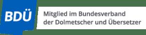 Logo vom Berufsverband BDÜ