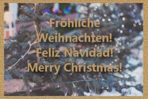 """Arbol de navidad con letras: ¡Feliz Navidad"""""""