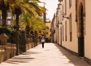 Street on Canary Islands, Spain
